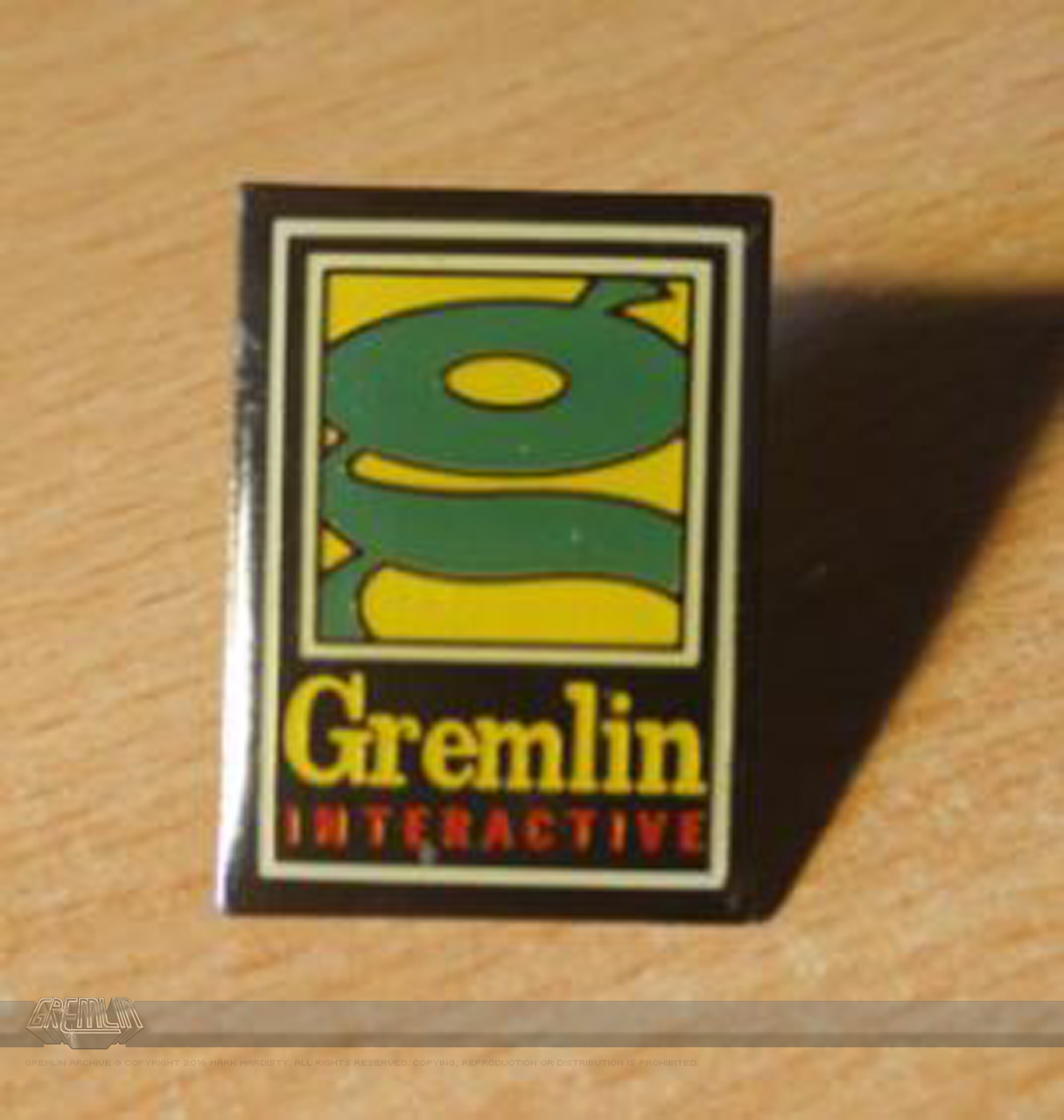 Gremlin lapel pin-badge