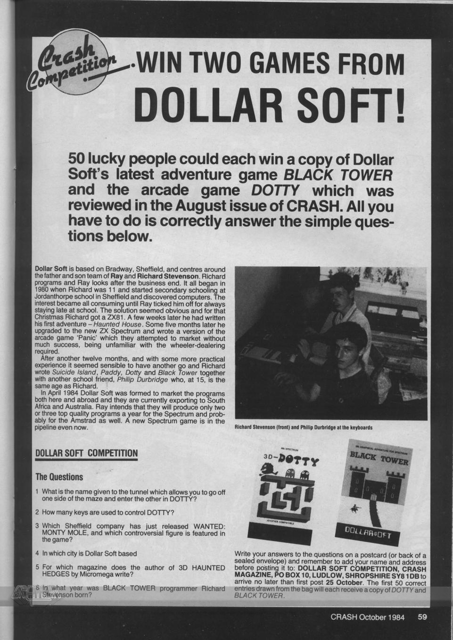 Crash Magazine Dollarsoft Interview