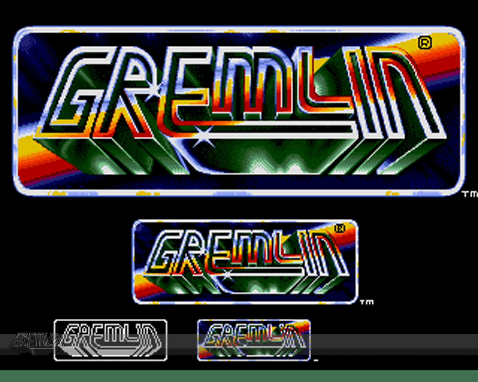 16-Bit Gremlin Logos