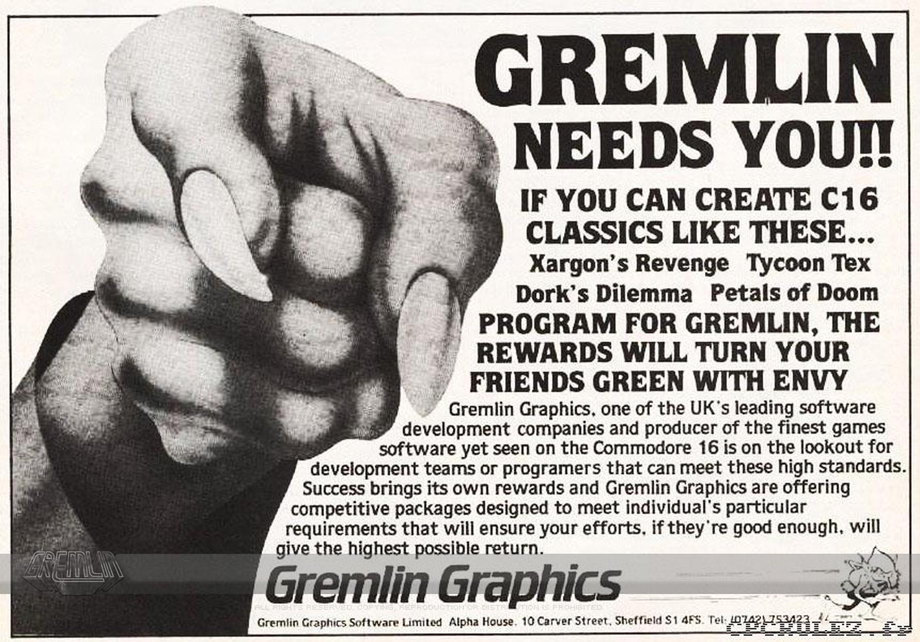 Gremlin needs You!