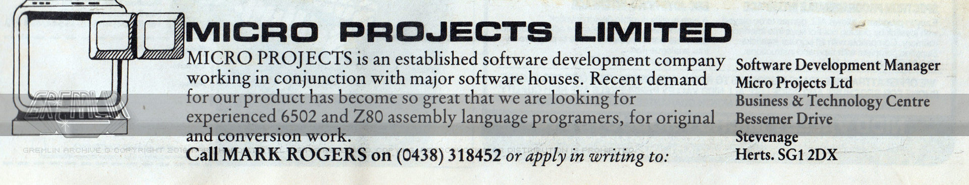 Micro Projects Recruitment Advert