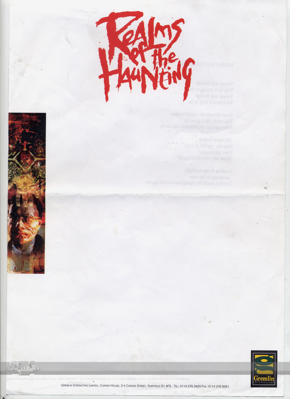 Realms of the Haunting Letterhead