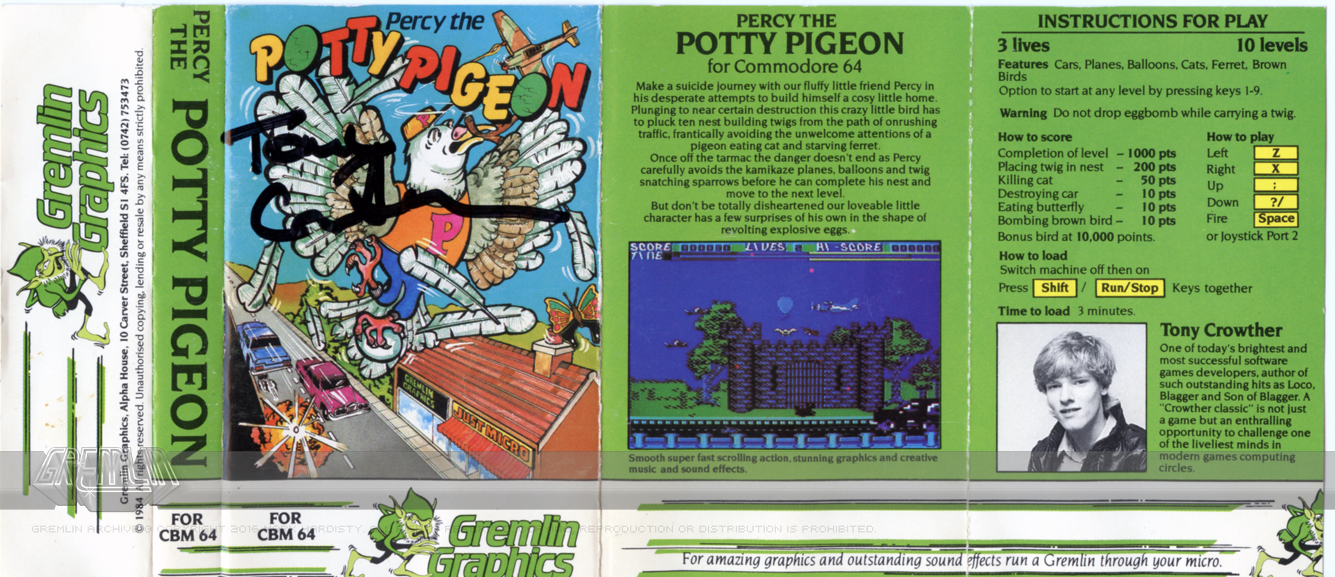 Percy The Potty Pigeon (Signed)