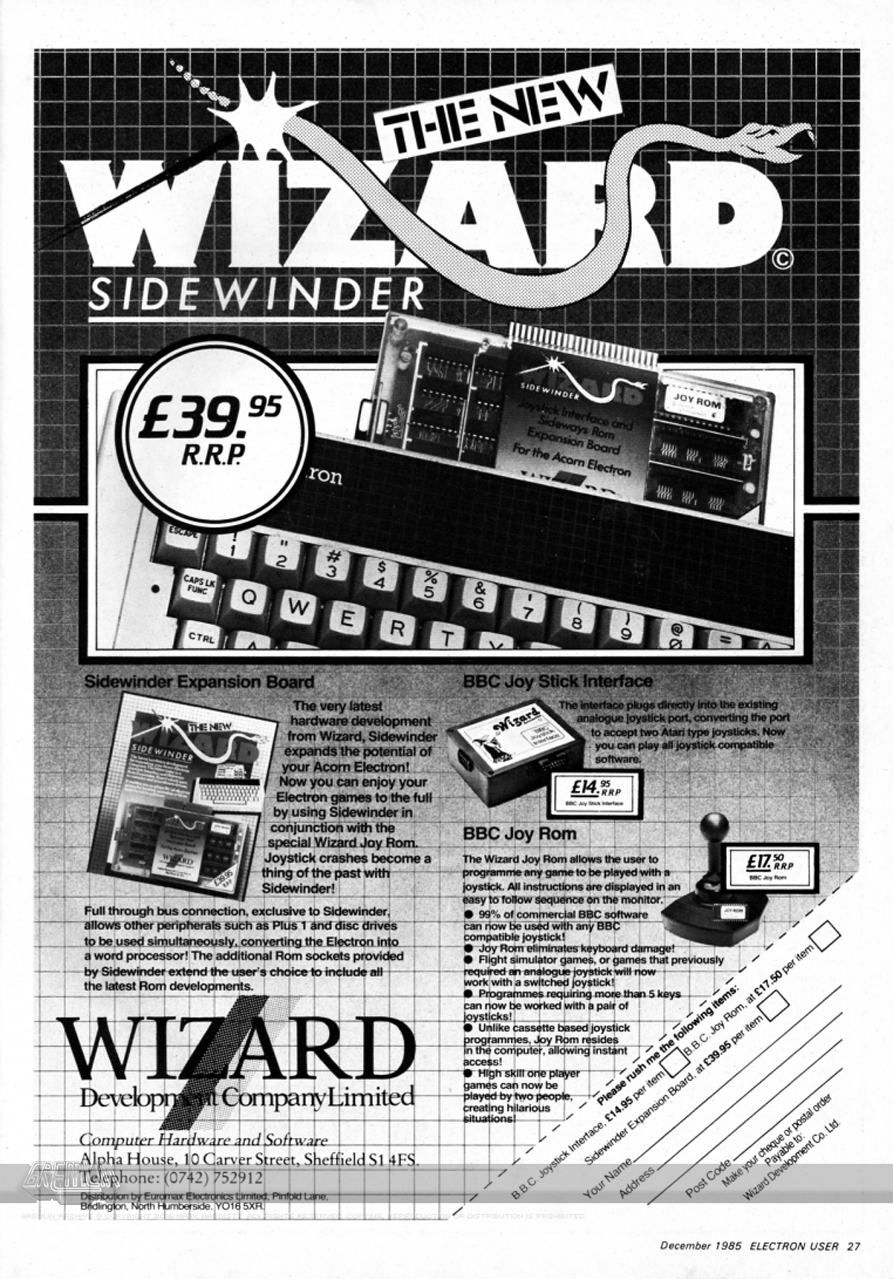 JoyRom Sidewinder Interface Advert