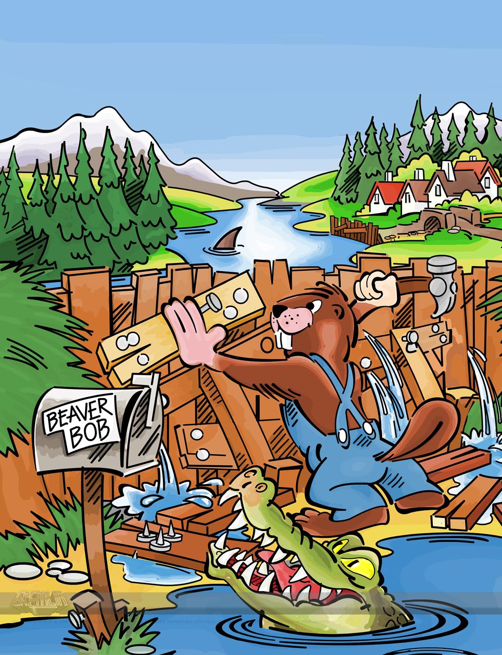 Beaver Bob in Dam Trouble