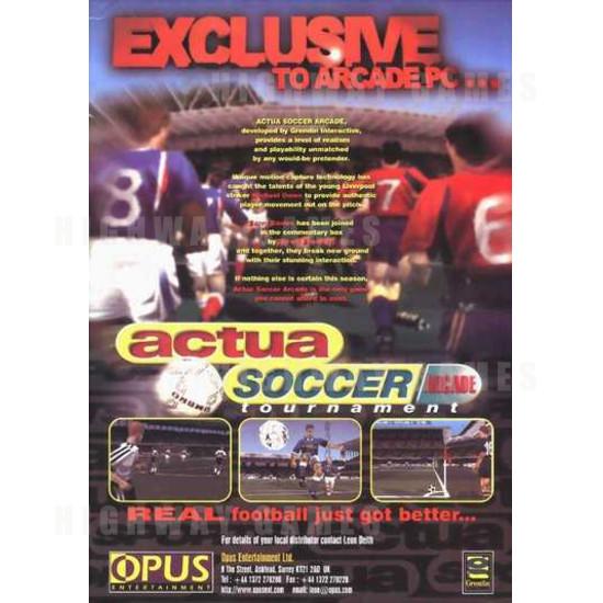 Actua Soccer Tournament Arcade Machine