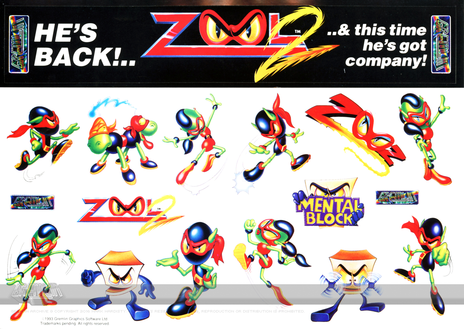 Zool 2 Stickers