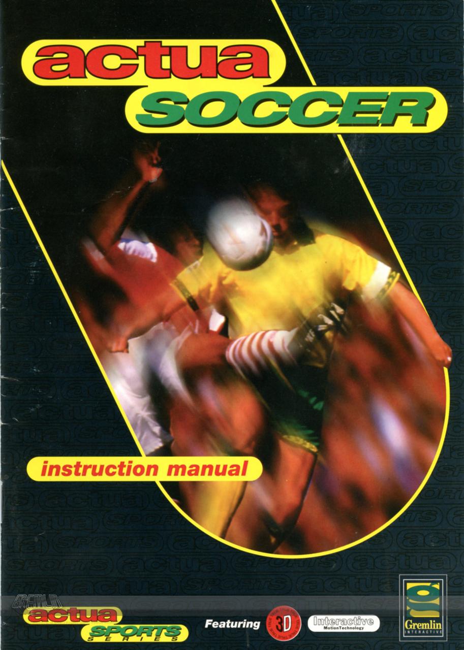 Actua Soccer – Instructions