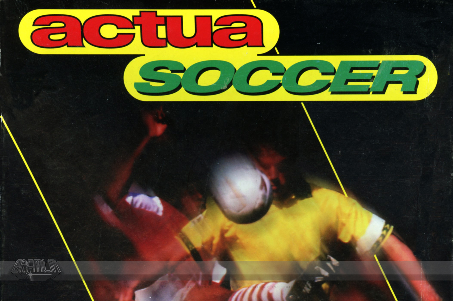 Actua Football – Development Schedule (1994)