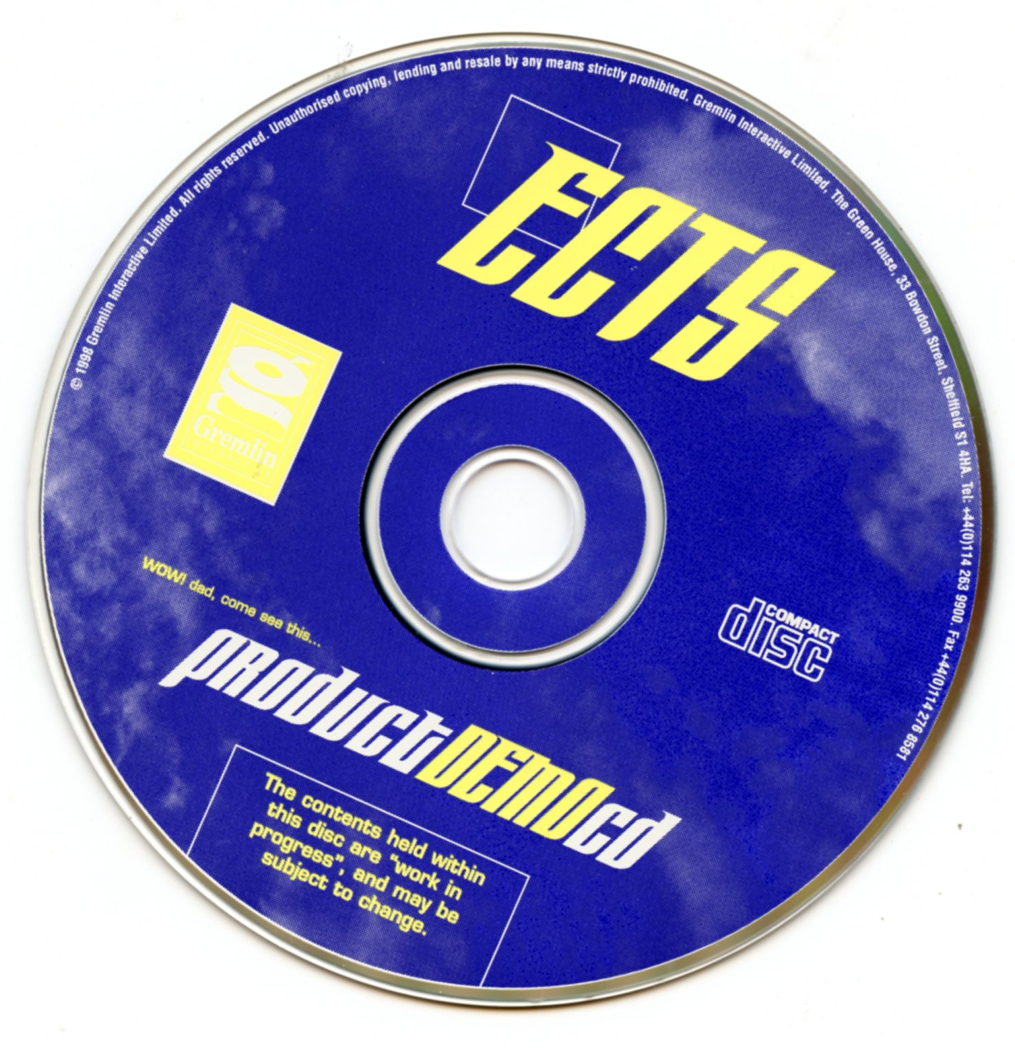 ECTS Product Demo CD