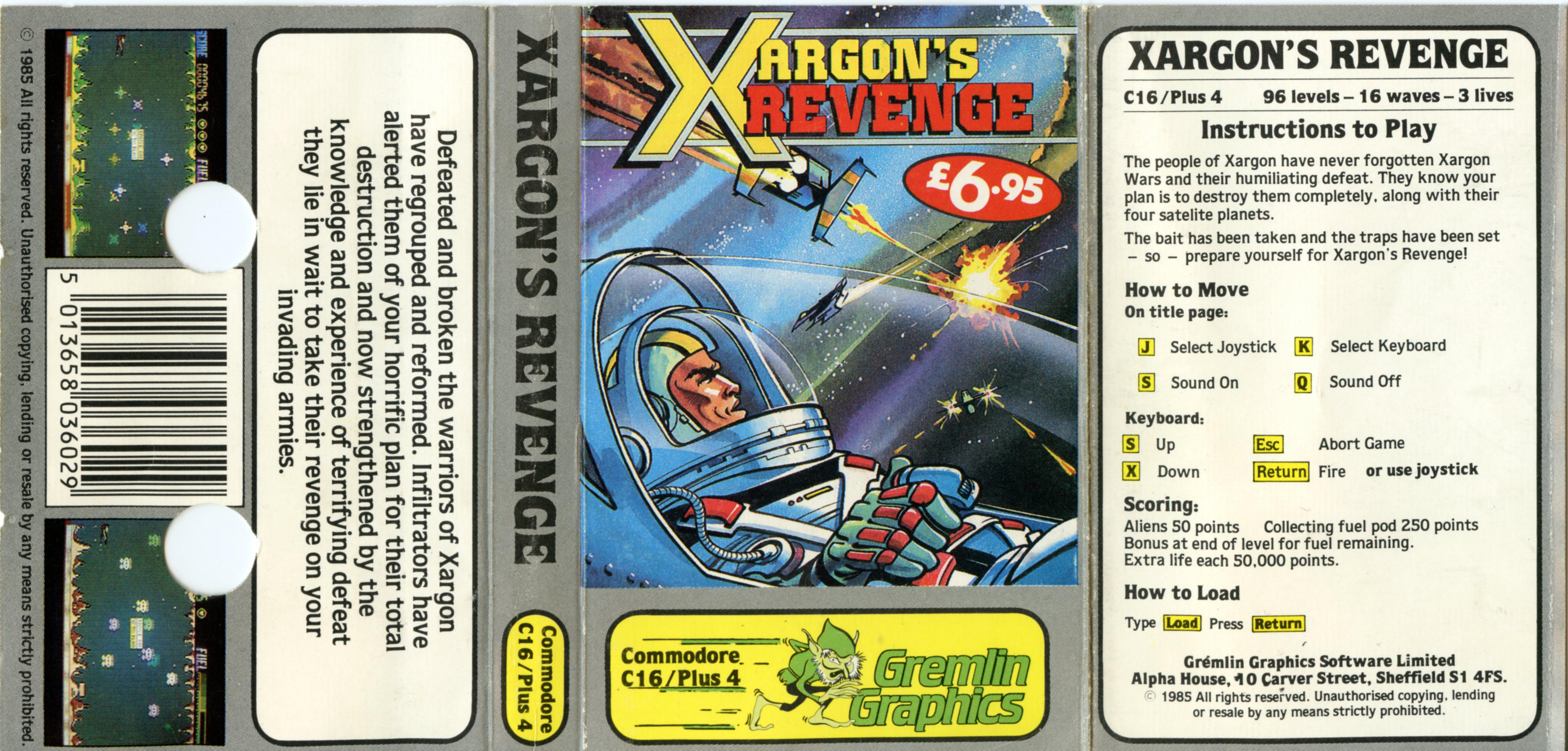 Xargon's Revenge (C16/Plus4)