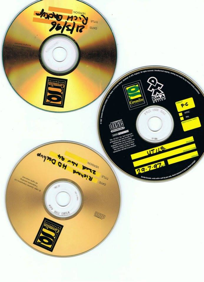 Gremlin/DMA Design Backup Disks