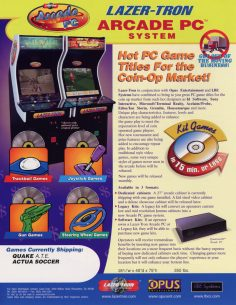 LAZER-TRON Arcade System (Actua Soccer Arcade)