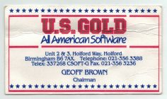 Geoff Brown US Gold Business Card