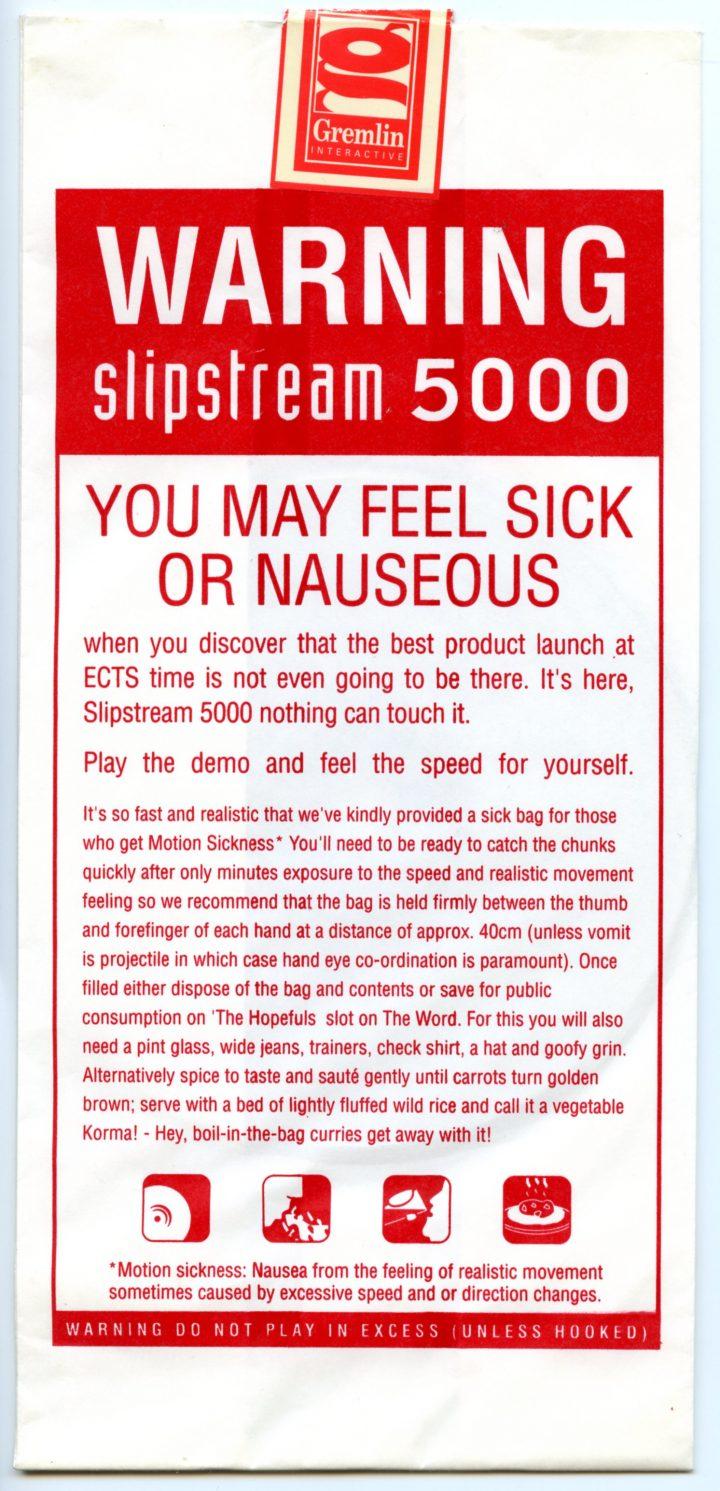 Slipstream 5000 Sick Bag PR Merchandise