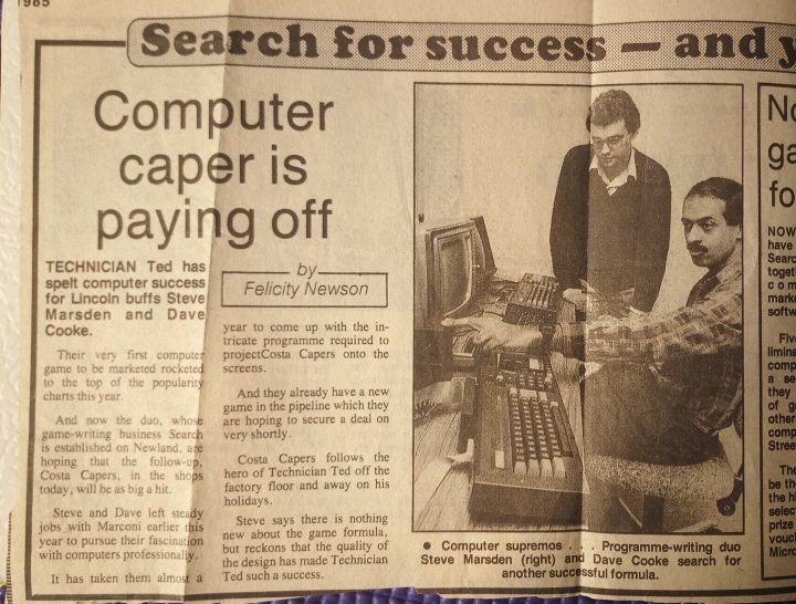 Steve Marsden and Dave Cooke – Lincolnshire Echo Snippet
