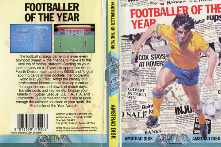 Footballer of the Year (Amstrad Disk)