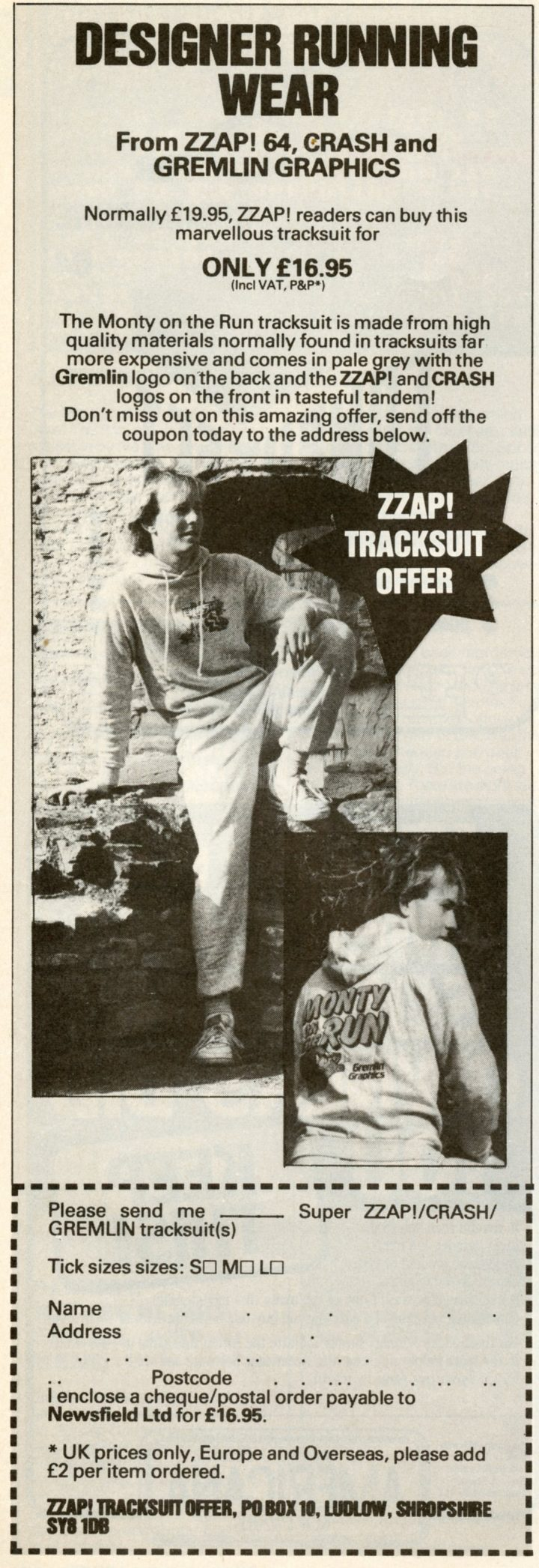 ZZap!64 Monty on the Run Tracksuit Offer