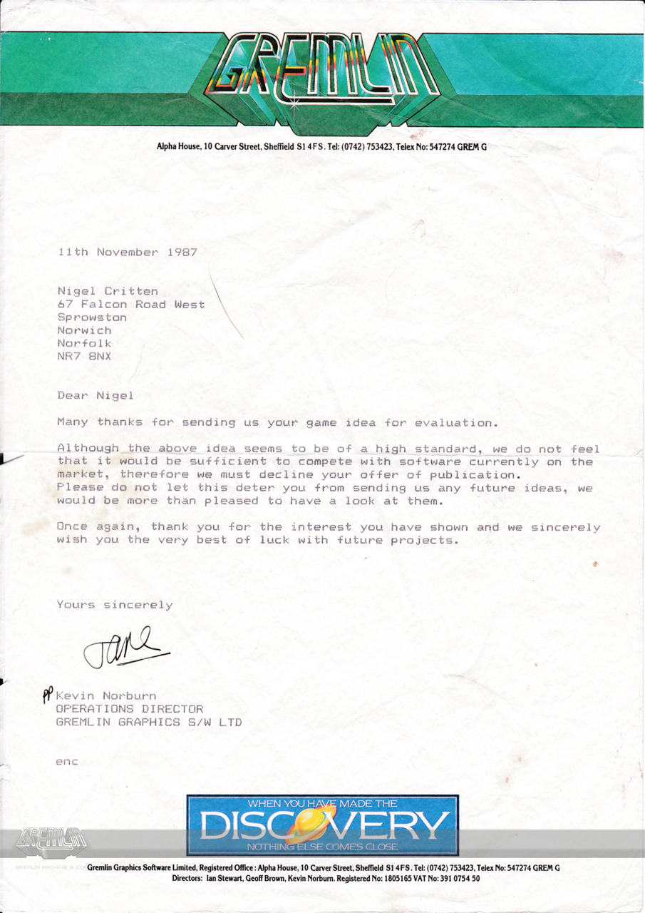 Artist Rejection Letter
