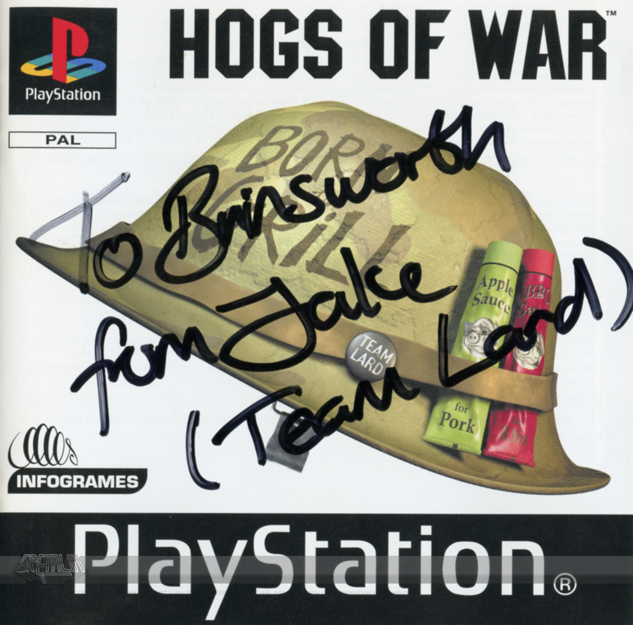 Signed Playstation Hogs of War