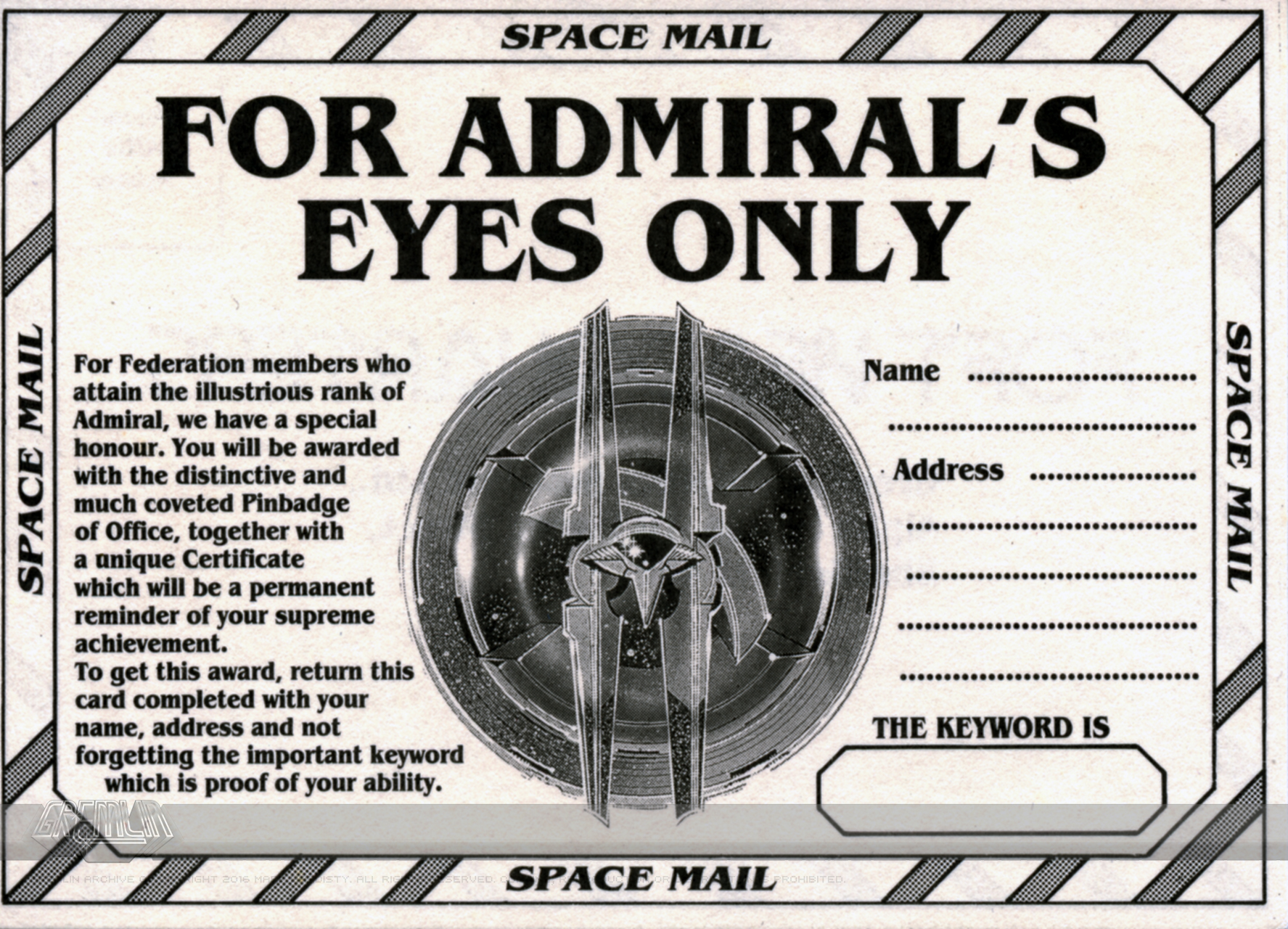 For Admiral's Eyes Only