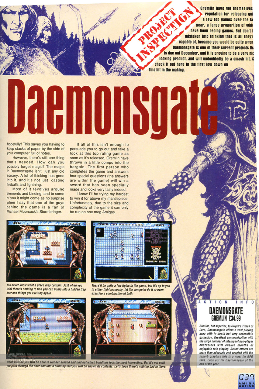 Daemonsgate Amiga Action Snippet