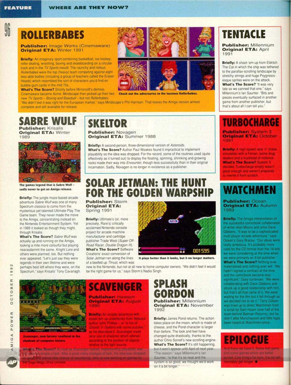 Amiga Power Sabre Wulf Teaser