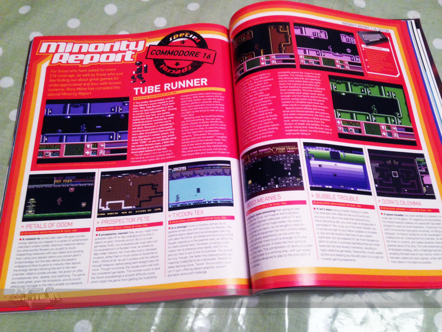 Retro Gamer C16 Minority Report