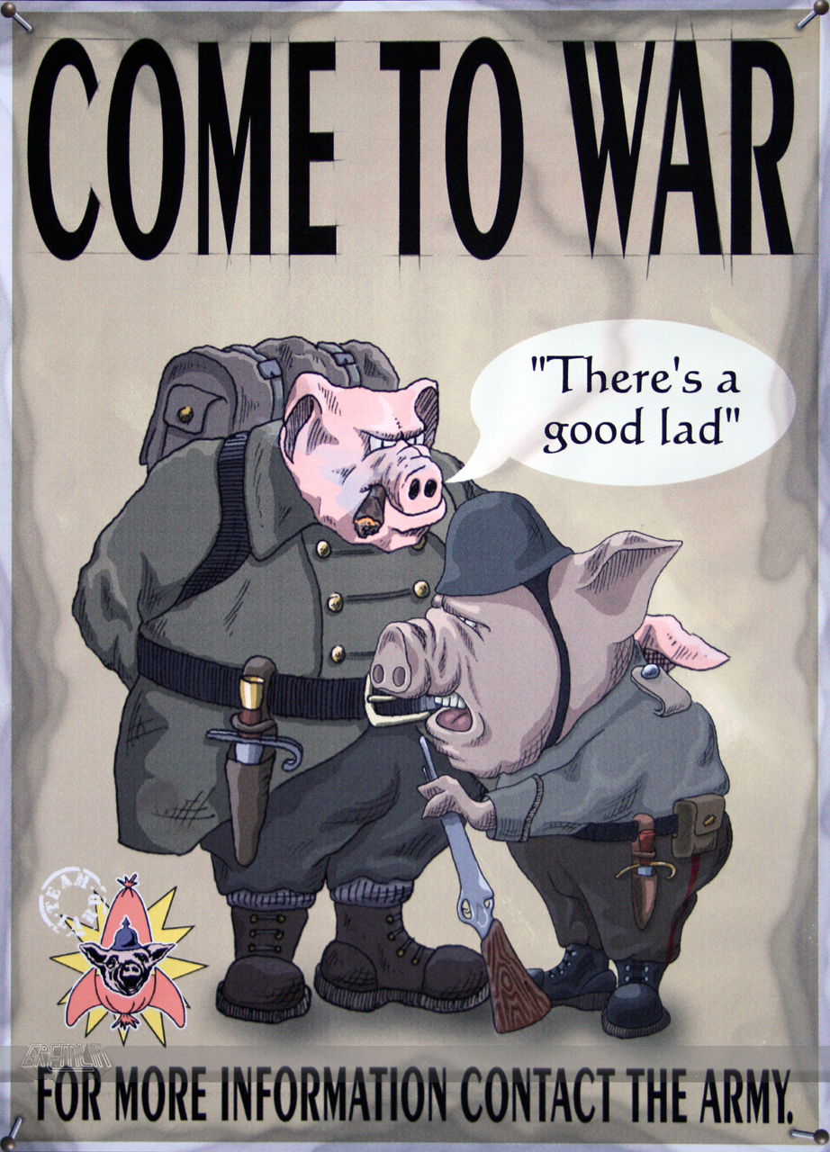 Hogs of War – Promotional Poster