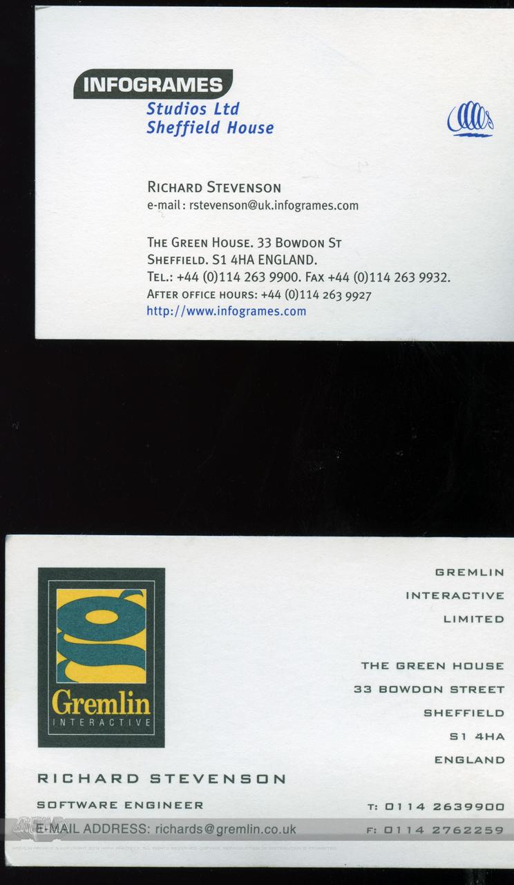 Richard Stevenson – Business Cards