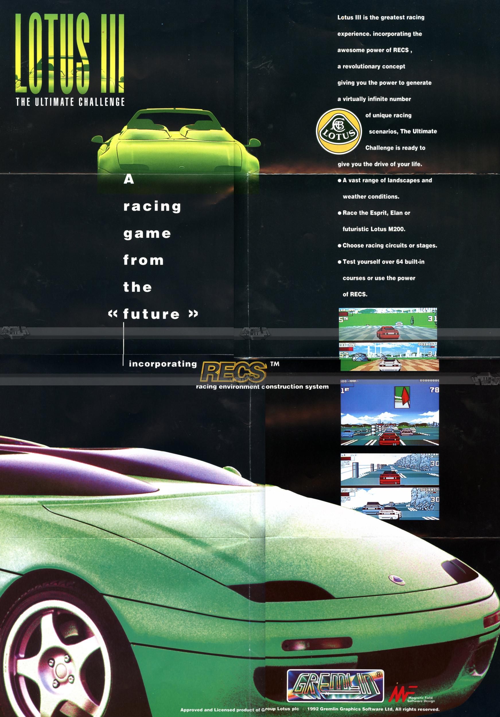 Lotus III: Ultimate Challenge Poster