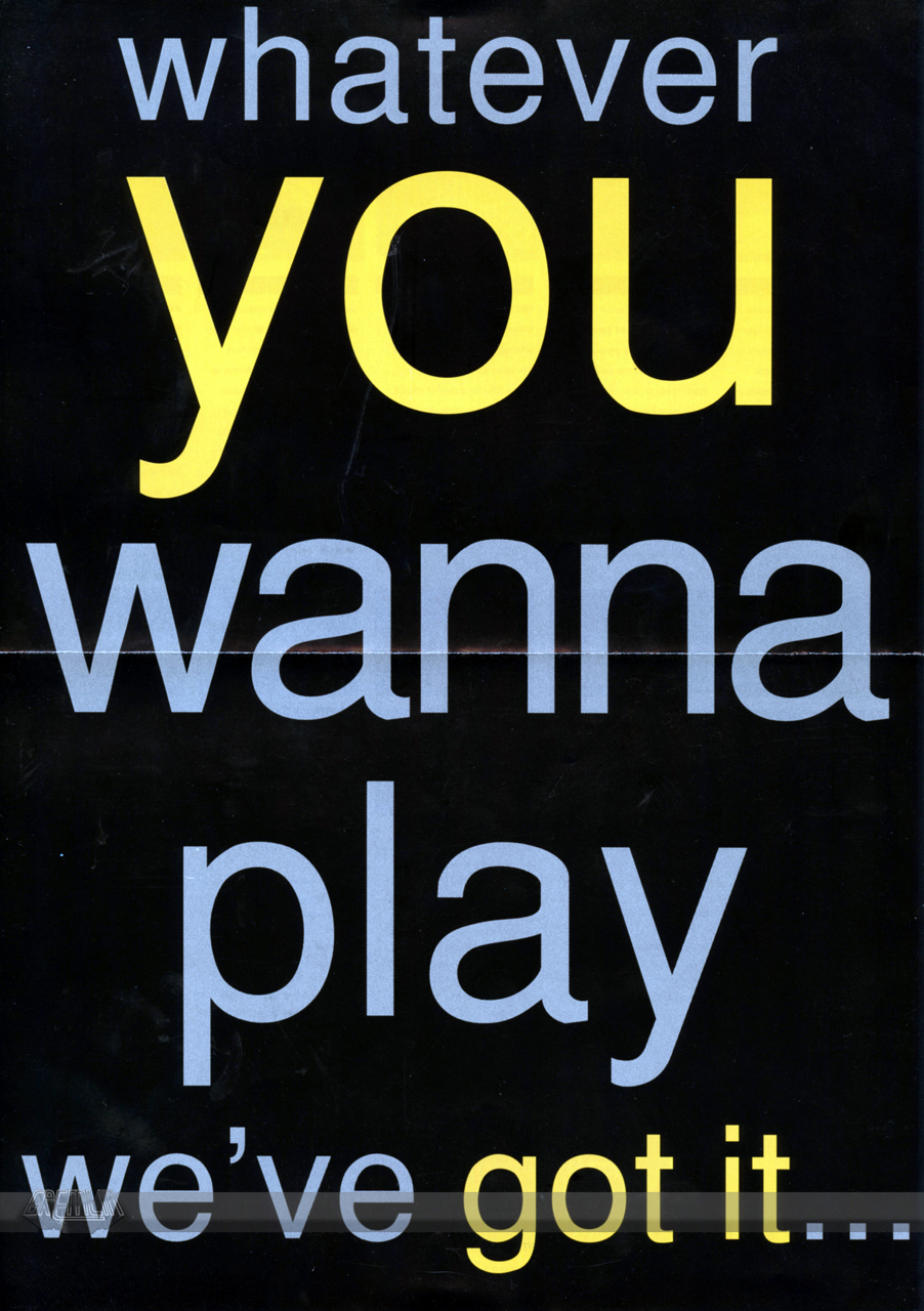 Whatever You Wanna Play … Promo