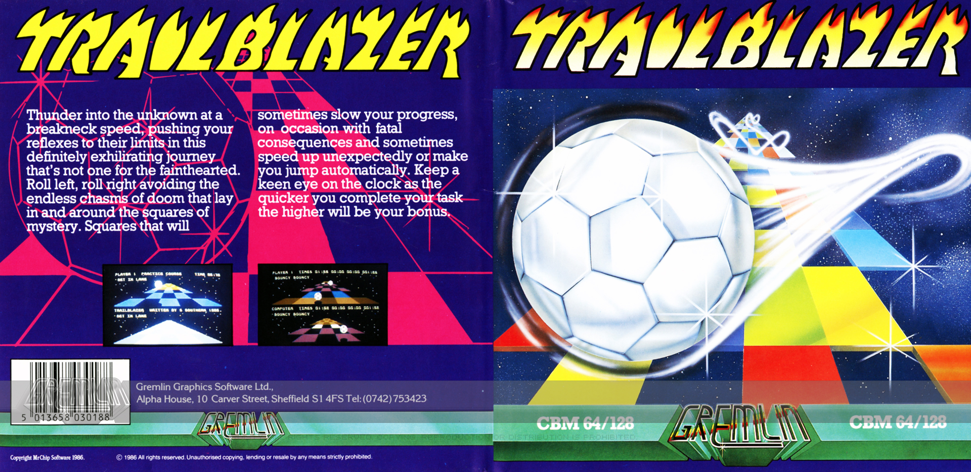 Trailblazer (C64 Disk)