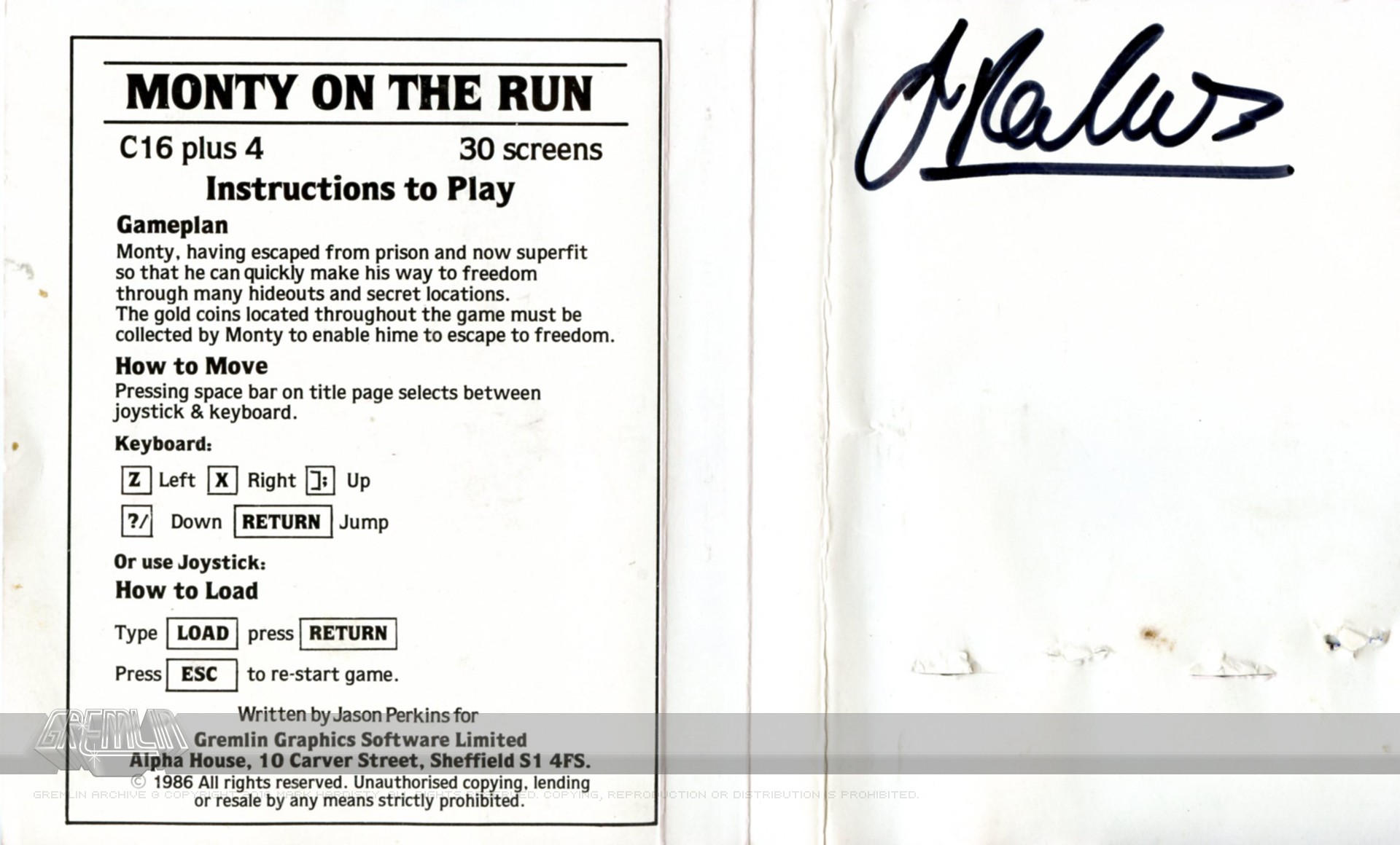 Monty on the Run (Signed)