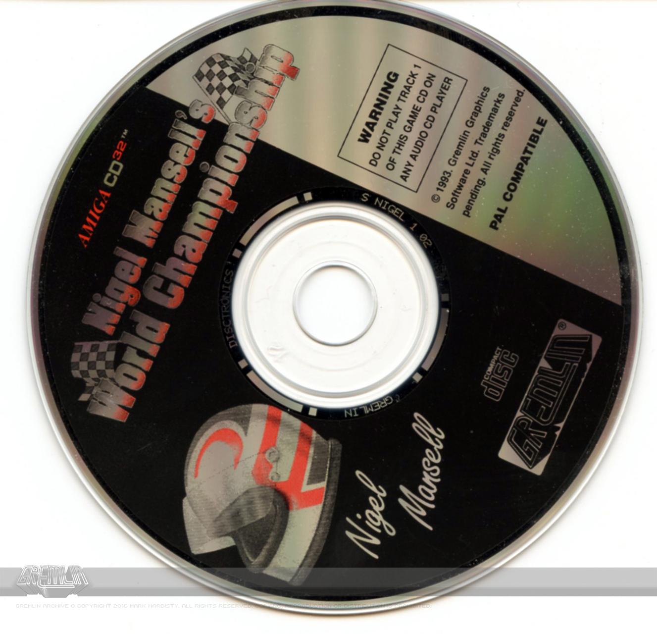Nigel Mansell's World Championship (CD32) CD-ROM