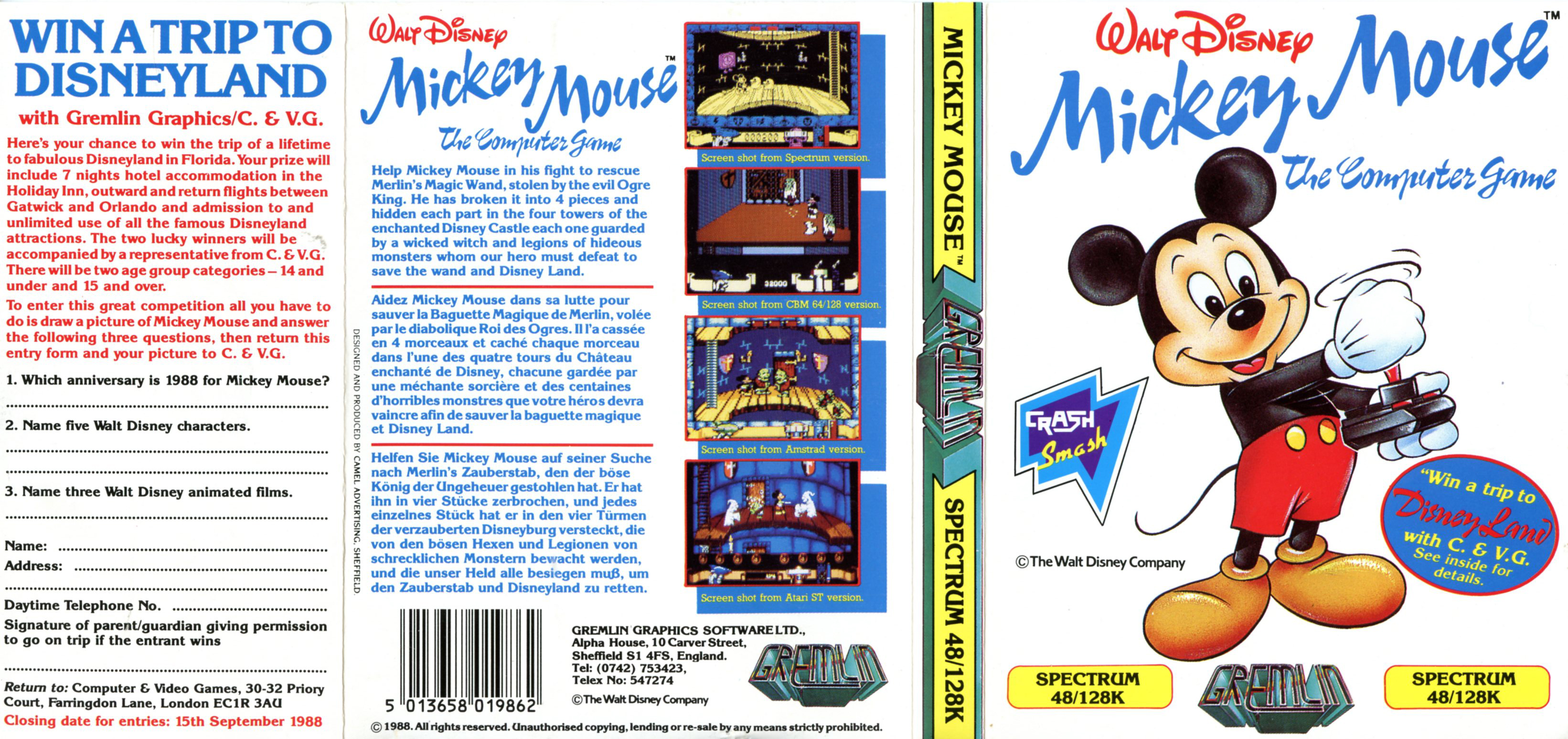 Mickey Mouse – The Computer Game (C64)