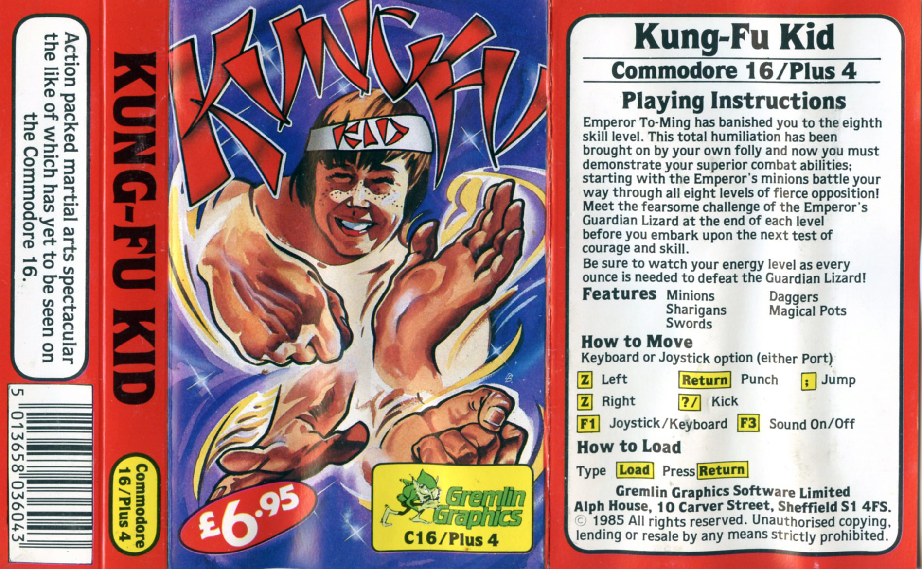 Kung Fu Kid (Commodore C16/Plus4)