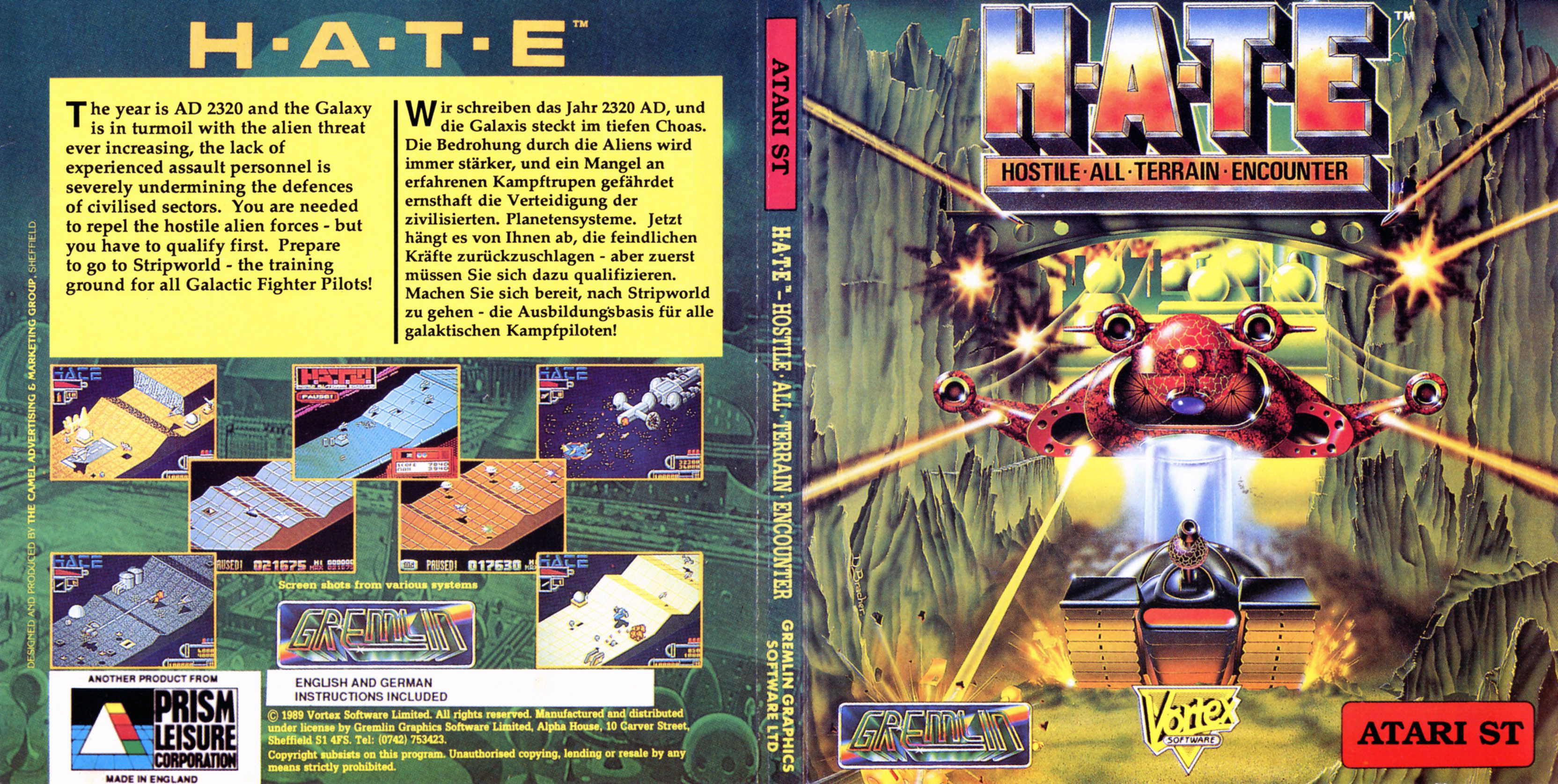 Hostile All Terrain Encounter (HATE) (Atari ST)