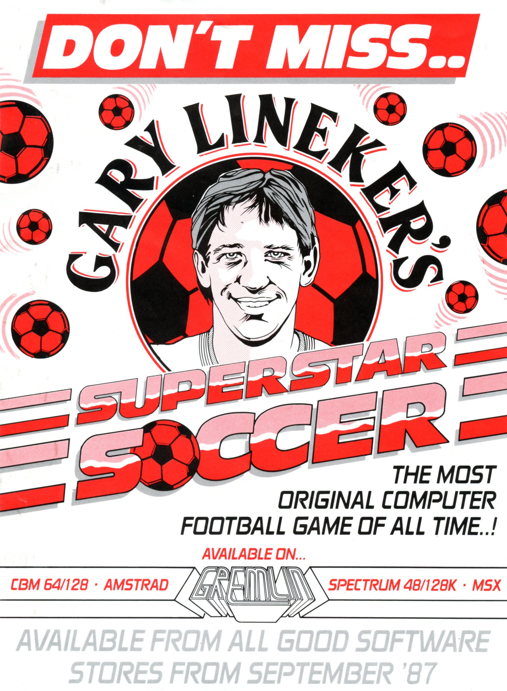 Gary Lineker's Superstar Soccer Flyer