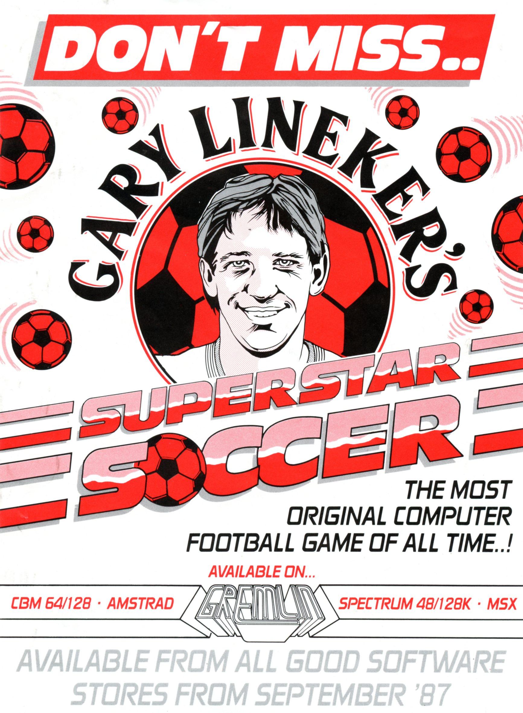 Gary Lineker's Superstar Soccer Flyer