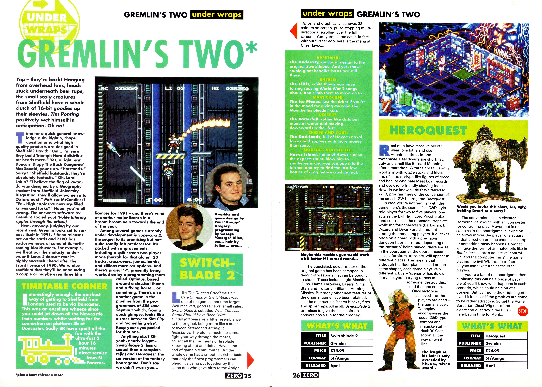 ZERO Magazine (March 1991)