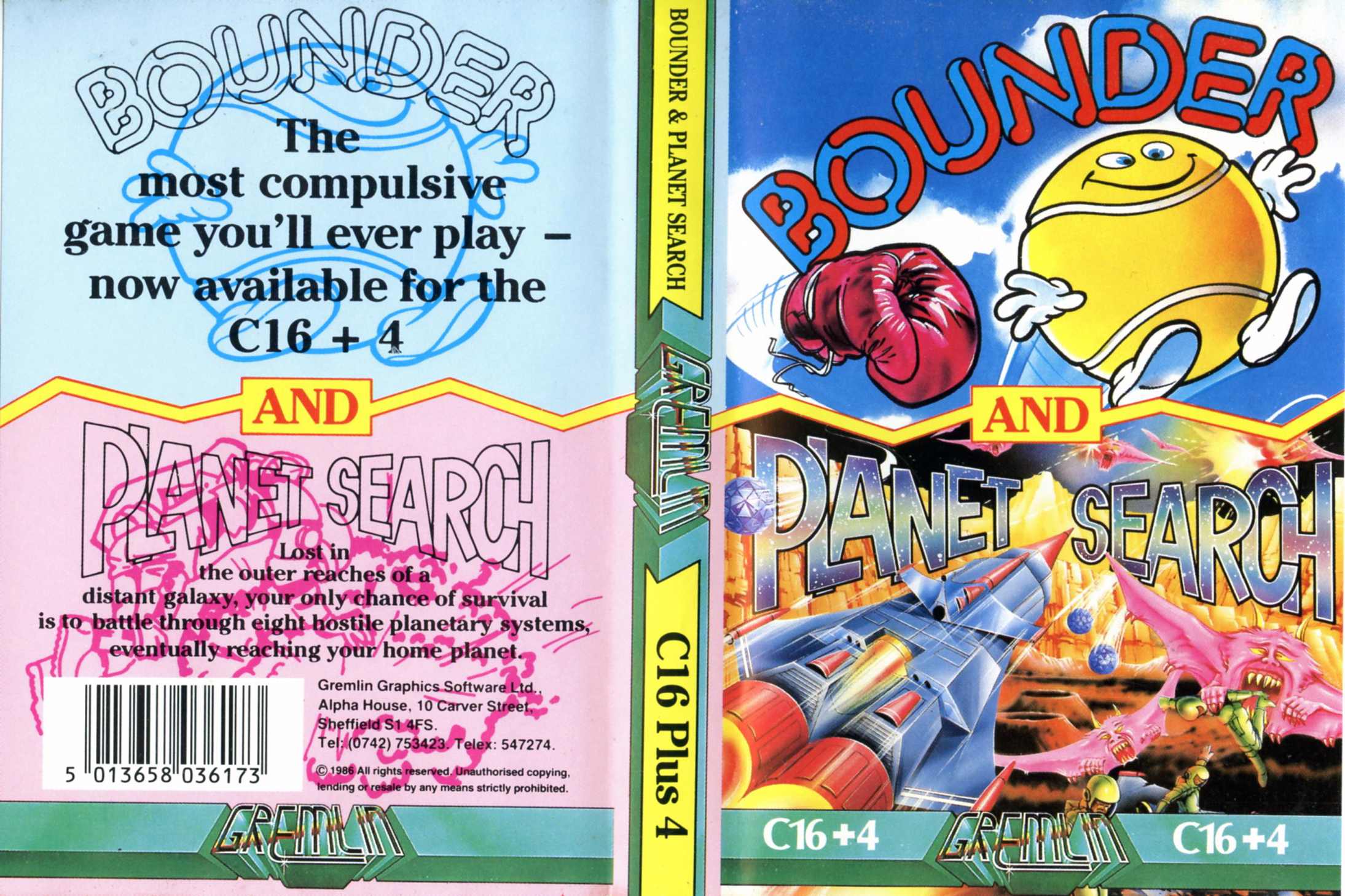 Bounder and Planet Search (Commodore C16/Plus 4)