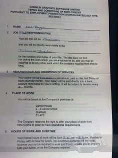Neil Biggin Contract
