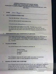 Neil Biggin Contract
