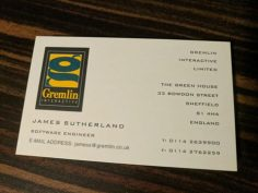 James Sutherland Business Card
