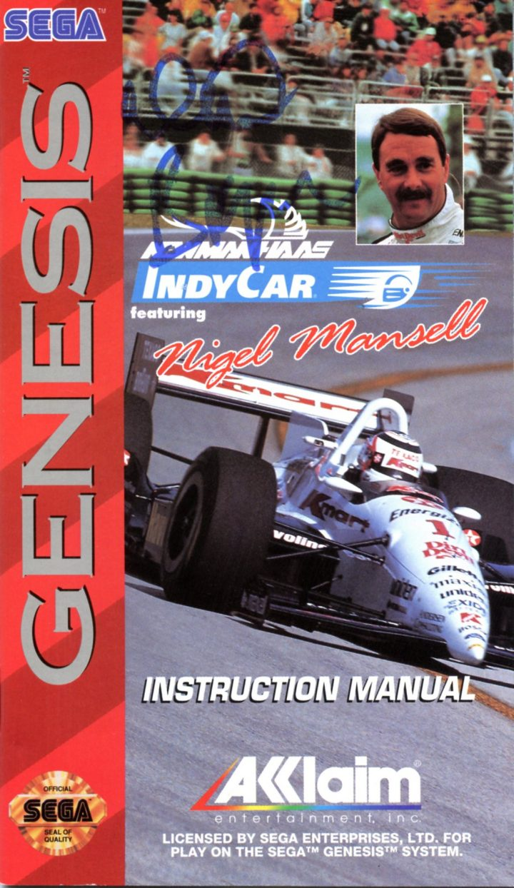 Newman/Haas IndyCar featuring Nigel Mansell (Signed – Genesis/Megadrive)