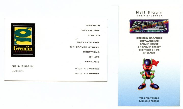 Neil Biggin Business Cards