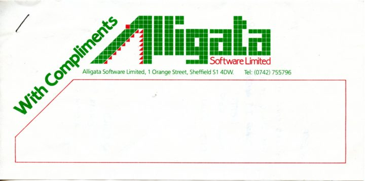 Alligata Software Compliments Slip