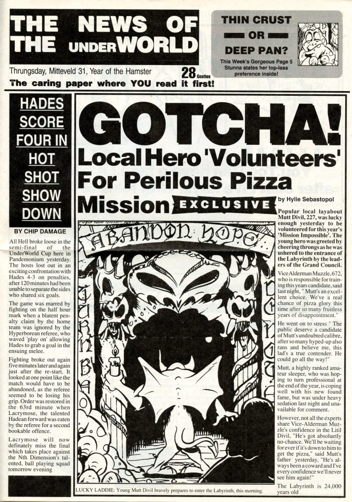 Litil Divil (Labyrinth Sheet & Newspaper)