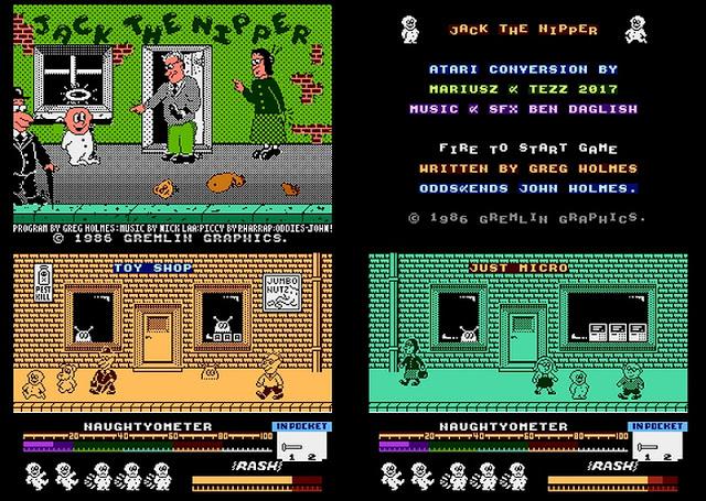 Jack the Nipper for the Atari 8-bit